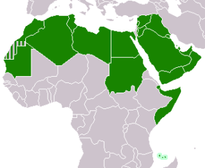 Map of League of Arab States countries