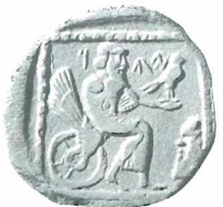 coin with bearded figure